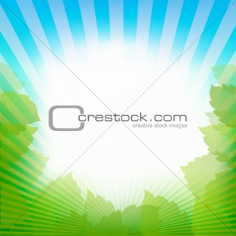 Abstract Nature Frame Background