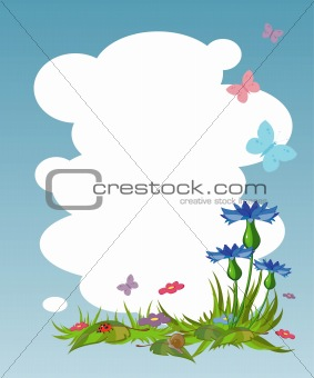Background for your text with cornflowers