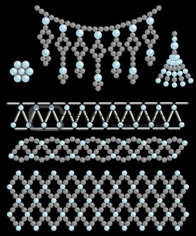 Bead adornments. Vector illustration