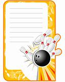 Blank Bowling Invitation