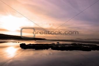 beale purple beach dawn