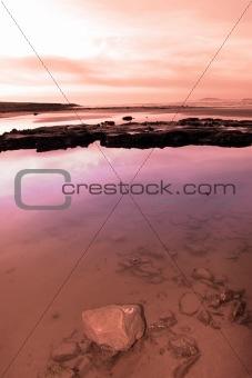 beale purple beach view