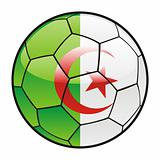 flag of Algeria on soccer ball