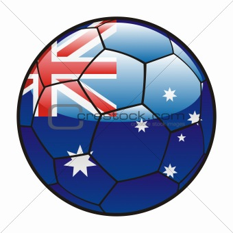 flag of Australia on soccer ball