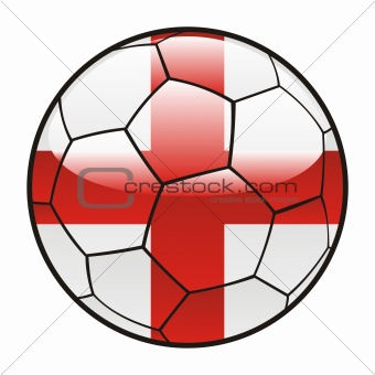 flag of England on soccer ball