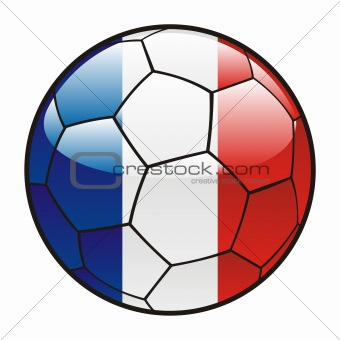 flag of France on soccer ball