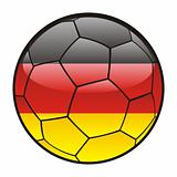 flag of Germany on soccer ball
