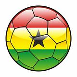 flag of Ghana on soccer ball