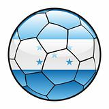 flag of Honduras on soccer ball