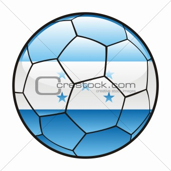 flag of Honduras on soccer ball
