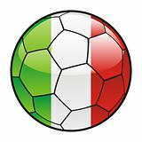 flag of Italy on soccer ball