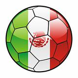 flag of Mexico on soccer ball