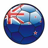 flag of New Zealand on soccer ball