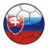 flag of Slovakia on soccer ball