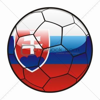 flag of Slovakia on soccer ball