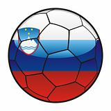 flag of Slovenia on soccer ball