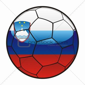 flag of Slovenia on soccer ball