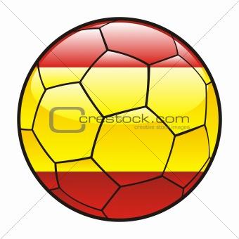 flag of Spain on soccer ball