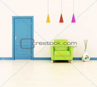 bright home entrance