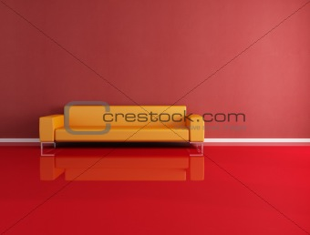 red and orange modern interior
