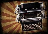 Grunge typewriter