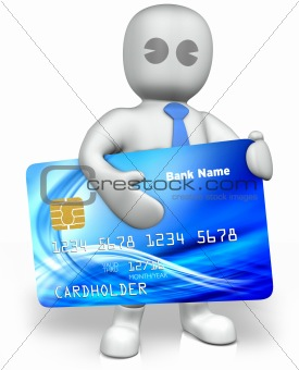a man with a big credit card