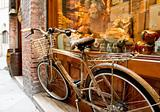 Bicycle in front of store window - Sienna, Italy