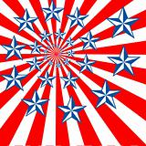 US Flag Abstract