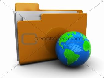 folder icon with globe