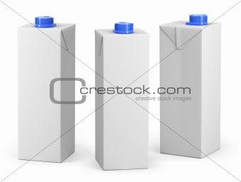 Clear milk or juice package model
