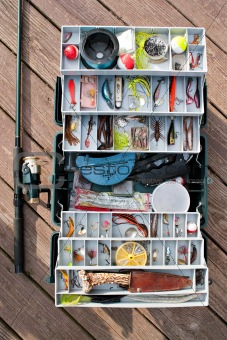 Fishing Tackle Box and Gear