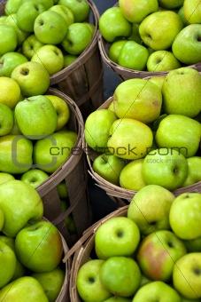 Green Apples In Bushels