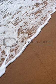 Beach Waves Washing Ashore