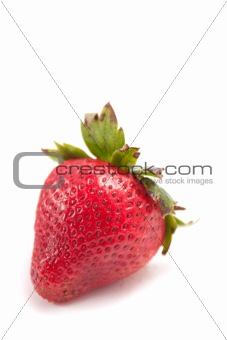 Single Red Strawberry
