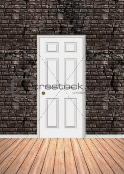 Brick Wall Doorway