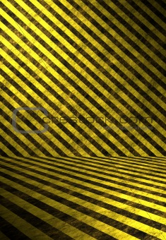 3D Hazard Stripes Interior