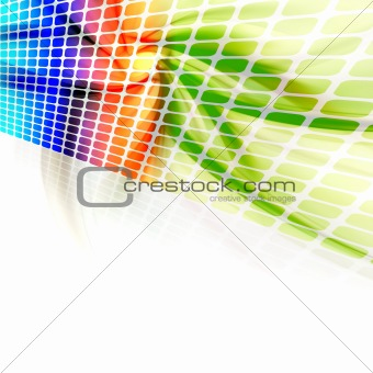 Abstract Rainbow Wall