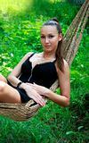 Girl in a hammock