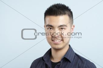Asian man head shot