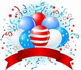 American flag balloons design