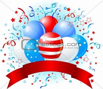 American flag balloons design