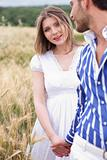 woman looking her boyfriend, woman on focus