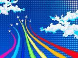 Rainbow air show