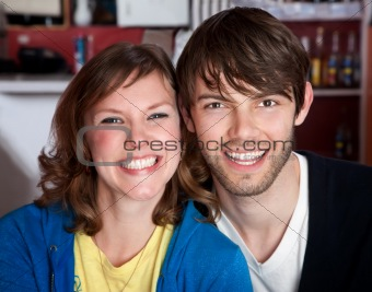 A very happy young hipster couple