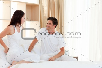 Romantic couple having fun