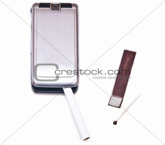 Cigarette with phone