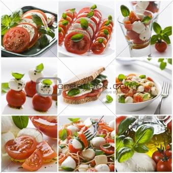 Mozzarella collage