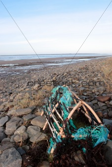 abandoned lobster pot
