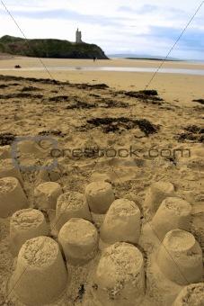 old castle sandcastles and cliffs