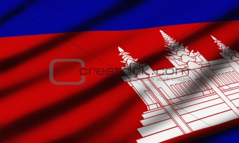 Closeup detailed flags of different countries